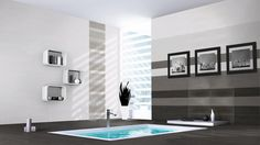 Code Negro 18x18 and Code Grafito, Blanco and Negro 8x24 wall tile #plaza. Ceramic Floor Tiles, Wall And Floor Tiles, Wall Tiles, Mosaic Wall, Porcelain Tile, Shower Tile Cleaner, Cleaning Shower Tiles, Grey Bathroom Tiles, Bathroom Flooring