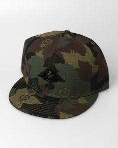 LRG Clothing Co. New Era Camo Tree Snapback Cap