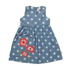 Frugi Παιδικό Αμάνικο Φορεματάκι – Μπλε της Κορνουάλης - Sunnyside