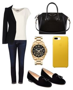 """Students in October 2"" by jana-jarockaja on Polyvore featuring AG Adriano Goldschmied, Givenchy, Jon Josef, Michael Kors, Alberto Biani and Armani Collezioni"