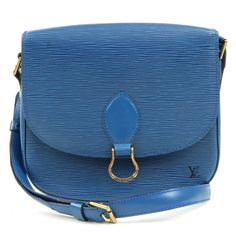 LOUIS VUITTON Epi Saint Cloud GM Shoulder Bag Blue M52195 Used F/S