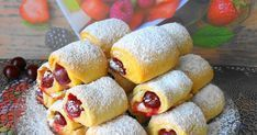 """Cherries in the snow"" in 30 minutes - tasty and crispy cookies with sourness - Baking Recipes, Cake Recipes, Dessert Recipes, Desserts, Crispy Cookies, Bakery Business, Polish Recipes, Dessert Drinks, No Bake Treats"