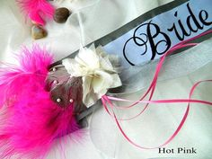 allure bridal shower sash custom colors and by yoursexquisitely 4999