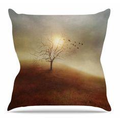 East Urban Home Lone Tree Love I by Viviana Gonzalez Throw Pillow Size: