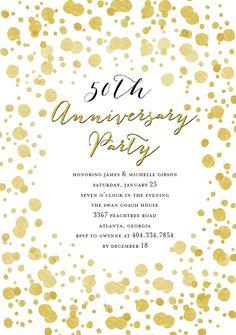 Gold Splatter Anniversary by Tracey Atkinson @Greenvelope