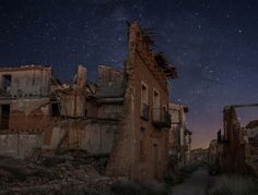 this eponymous ghost town was the unfortunate host of the Battle of Belchite, a devastating leg of the Spanish Civil War