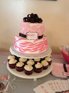 Baby Shower Cake For Girl | Baby Girl Safari Cake This Cake Matched The  Thank You