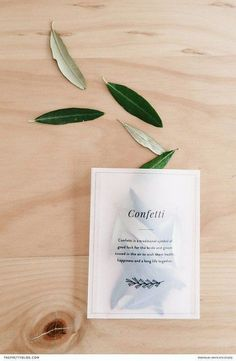 Leaf confetti for greenery wedding. Free DIY confetti bags that are perfect for any wedding ceremony Wedding Ceremony Ideas, Wedding Exits, Wedding Trends, Wedding Designs, Diy Wedding, Wedding Day, Trendy Wedding, Card Wedding, Wedding Receptions