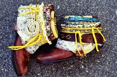 Belted Boots   41 Amazing Free People-Inspired DIYs