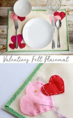 valentines felt placemat easy-sewing-project-from-Nap-Time-Creations