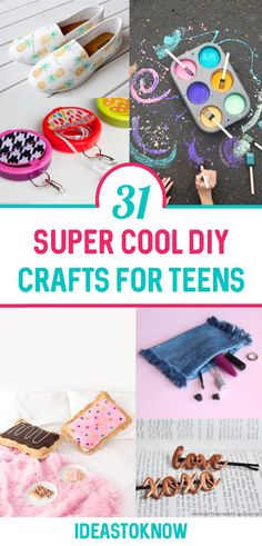 Easy Crafts For Teens, Diy Crafts For Teen Girls, Craft Kits For Kids, Diy Projects For Kids, Crafts For Kids To Make, Easy Diy Crafts, Cute Crafts, Diy For Teens, Diy Things To Make