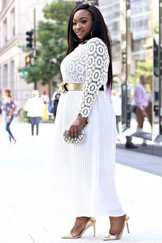 Curvy Girl Fashion and Outfit Inspiration for Plus Sized Women / #plus #size / FASHIONTERA