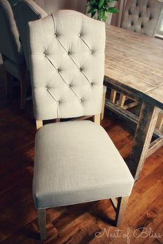 Like the chairs, just wish it was completely upholstered. Wicker Emporium Jasper tufted dining chair - Nest of Bliss