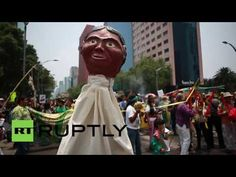 Mexico: Protesters in Mexico City march against Monsanto and GMOs - YouTube