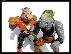 "BeBop and Rocksteady.  Possibly the two cheesiest ""villains"" ever. Teenage Mutant Ninja Turtles cartoon."