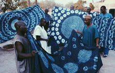 Indigo fabrics on display by Hausa dyers in Nigeria | © of Ian Berry #Cultureartsociety #vscocam