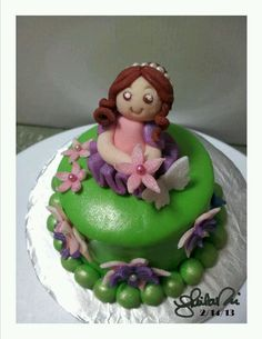 My daughter's ballerina girl mini cake 2. By Sheila Marie Matienzo