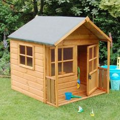 Playhouse- great idea for the grandgirls, grandpa!