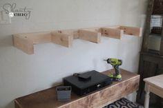 Shelves under tv