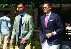 Look at these color/texture combos! Excellent. (Tommy Ton's Street Style: Pitti Uomo)