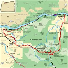 Mt. Hood Scenic Byway - Map | America's Byways