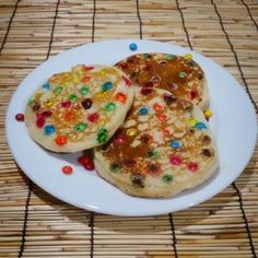 M&M pancakes - Follow @Guidecentral for amazing #DIY #recipes