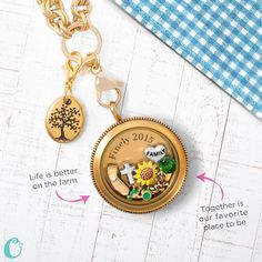 Origami Owl - show off your love of the simpler life on a farm. Just click on the pic to order.
