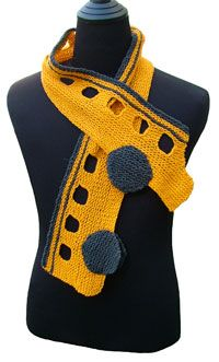I need a knitter to make me one of these!! Stretch School Bus Scarf KnitKit Love this!