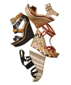 Wicker & raffia wedges are now in season!