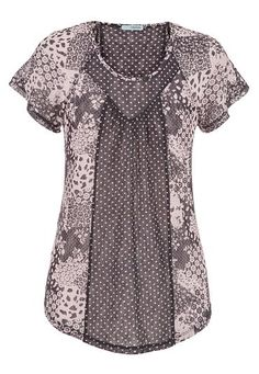 lace top with mixed dot and floral patterns (original price, $29) available at #Maurices