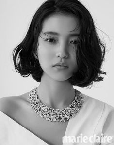 Kim Tae Ri for Marie Claire Korea / cr: Sporty Hairstyles, Korean Actresses, Korean Women, Movie Stars, My Girl, Chokers, Celebs, Portrait, Hair Styles