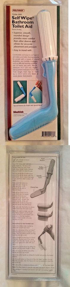 Bidet and Toilet Tissue Aids: Ableware Self Wipe Bathroom Toilet Aid Maddak 72506-2000 New -> BUY IT NOW ONLY: $40 on eBay!