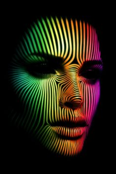 surface lines - colorful portraits wallpapers by Jens-Peter Giesel