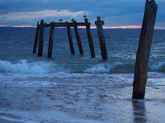 old pier remains, Phillip Island, Victoria, Australia