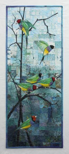 Linden Lancaster - Six Gouldian Finches