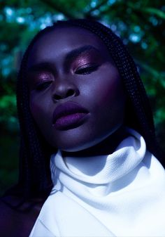 """""""Deel Ojulu is a Sudanese beauty who caught the eye of the editors and publishers of Laud Magazine, a luxury quarterly publication based in Australia. They were so impressed by her """"unique and powerful look"""" that they flew her in from her hometown of Perth for a fashion feature..."""" Pangea's Garden 