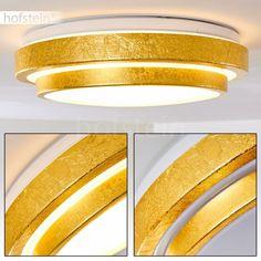 Goldfarbene LED Design Wand Leuchten Flur Büro Strahler Wohn Schlaf Zimmer Lampe