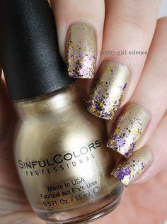 Image via We Heart It https://weheartit.com/entry/145256402/via/10810506 #glitter #gold #nails #lingot #octopusparty