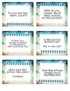 Art Discussion Cards for Class Critiques or Art History Lessons Kl- are these higher order thinking questions? Pinup Art, High School Art, Middle School Art, Art Analysis, Art Rubric, Rubrics, Art Critique, Art History Lessons, History Projects