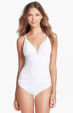 La Blanca Ruched One-Piece Swimsuit available at #Nordstrom