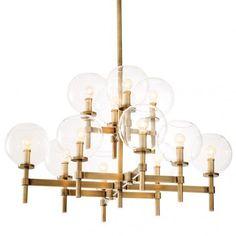 Lantern Chandelier, Sputnik Chandelier, Chandelier Shades, Modern Chandelier, Chandelier Lighting, Chandeliers, Lustre Globe, Clear Glass Lamps, Antique Brass Chandelier