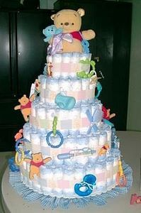 How to Make Baby Shower Diaper Cakes thumbnail
