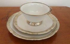 Porcelana Babci srebrny serwis. Tea Cups, Tableware, Dinnerware, Tablewares, Dishes, Place Settings, Cup Of Tea