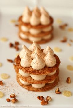 """Caramelized Phyllo and Pumpkin Marshmallow Napoleons via this blog, """"Baking Obsession""""."""
