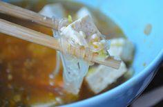 Nudelsoppa med tofu