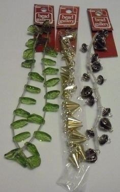 BEAD GALLERY BEADS LOT OF 3 LOVELY BEAD STRANDS NEW LOT # 9 #BeadGallery