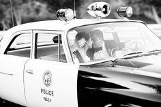 Vintage Police Car {wedding}