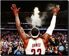 Lebron James Cleveland Cavs 16x20 HD Photo on Gallery Wrapped Stretched Canvas