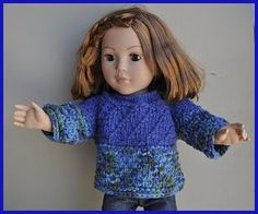 "Cuddles 18"" Doll Sweater - free doll knit pattern - Archived pattern"