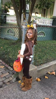 DIY Halloween Costumes for Kids - Deer Costume Deer Costume Diy Reindeer Costume, Deer Costume Diy, Girl Deer Costume, Deer And Hunter Costume, Bambi Costume, Deer Costume For Kids, Dear Costume, Diy Halloween Costumes For Kids, Halloween Kostüm